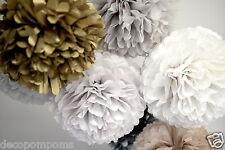 20 Papier Tissu Métallique pompons SET - 3 TAILLES-Mariage Fête Décorations