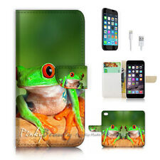 iPhone 7 (4.7') Flip Wallet Case Cover P2407 Frog