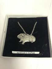 Guinea Pig PP-A28 Emblem Silver Platinum Plated Necklace 18""