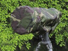 Rain Cover + Lens End Cap fits Canon 300 Tokina Tamron Nikon 300mm f2.8  camo