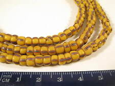 Antiguedad abalorios Antique striped Pound Venetian Glass trade beads s afrozip