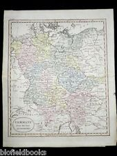 Antiquarian Hand Coloured Map c1820: Germany from the Best Authorities-German
