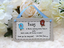 A21 Personalised Nursery Nurse End of Term, Christmas, Thank you gift plaque