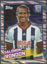 TOPPS 2016 PREMIER LEAGUE #480-WEST BROMWICH ALBION-SALOMON RONDON-SILVER FOIL