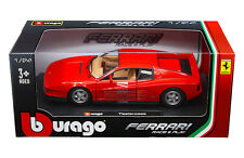Bburago 1/24 Scale Ferrari Testarossa Red Diecast Car Model 26014