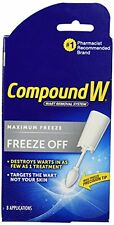 5 Pack Compound W Freeze Off Wart Removal System for Common & Plantar Warts 8 ap