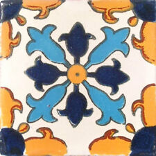 90 MEXICAN CERAMIC TILES WALL OR FLOOR USE CLAY TALAVERA MEXICO POTTERY #C004