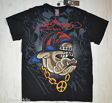 Ed Hardy By Christian Audigier señores Men t-shirt rapero Dog talla m