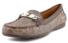 Coach Olive Signature Loafer Driver Moc Loafer Flat Shoe Black-Bark/Chestnut 9