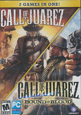 CALL OF JUAREZ 2 PACK Original + BOUND IN BLOOD Shooter PC Games NEW in DVD BOX