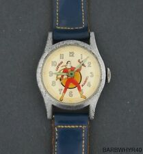 1948 wind-up Captain Marvel Fawcett Character Watch w/ Original Band