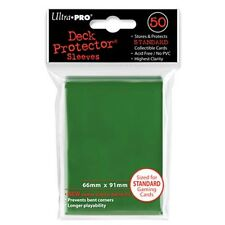 (12) ULTRA PRO 50CT GREEN STANDARD DECK PROTECTOR SLEEVES #82671 NEW 600 SLEEVES