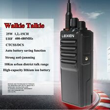 25W High Power UHF Handheld Radio Leixen UHF Military and Civilian Walkie Talkie