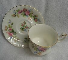 Royal Albert Moss Rose Pink Roses  Demitasse Cup and Saucer