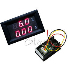 DC 4.5-30V 0-50A Dual Red LED Digital Volt meter Ammeter Voltage Am meter