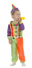 TODDLER CLOWN  HALLOWEEN FANCY DRESS UP  COSTUME PARTY AGE 3 -4 YEARS OLD