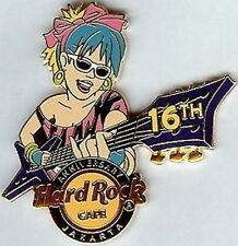 Hard Rock Cafe JAKARTA 2008 16th Anniversary PIN Girl Guitar - LE 200 HRC #46470