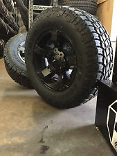 "(5) 18"" XD Rockstar 2 Black Wheels Jeep Wrangler JK 33"" Toyo AT2 Tires Package"