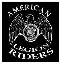 AMERICAN LEGION RIDERS 20 X 22 VETERANS MOTORCYCLE ASSOCIATION DECAL STICKER