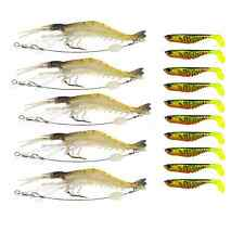 5 Prawn Rigs 10 Ripple Shads Soft Plastic Fishing Lures Bream Bass Trout Tackle