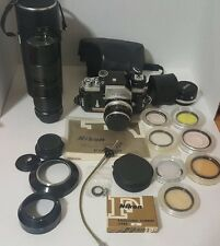 Nikon FTN Film Camera with Nikkor-S 50mm 1 /1.4 Lens & Accessories Bundle