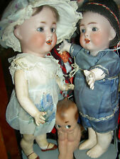 Very RARE, antique bisque character toddler doll circa 1900 mkd: N & T 2  exlnt.