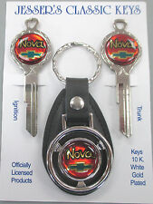 Chevrolet NOVA Deluxe Classic White Gold Chevy Keys Set 1970 1974 1978 1982
