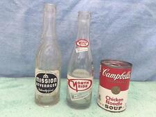 2 Vintage 7 oz Glass Pop Bottles Mission Beverages Chicago North Side Beverages