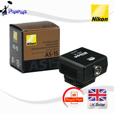 New Genuine Nikon AS-15 Hot Shoe Adapter (Sync Terminal Adapter Hot Shoe to PC)