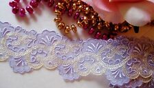 Amazing purple embroidery lace trim - price for 1 yard