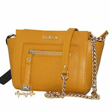 FURLA GINEVRA GIRASOLE SUNFLOWER SAFFIANO LEATHER MINI CROSSBODY BAG NEW $328
