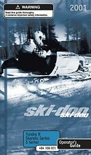 Ski-Doo owners manual book 2001 MX Z Fan 380 / 440 / 500 & Summit Fan 500