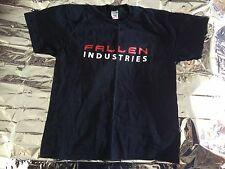 Fallen Industry T-shirt Polo Neck Fruit Of The Loom Rock Studio Wirral BRAND NEW
