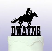 Personalised Western Horse Riding Cake Topper