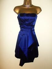 BEAUTIFUL KAREN MILLEN ROYAL BLUE PANELLED SILK EVENING DRESS 8
