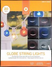 RED, WHITE BLUE GLOBE STRING LIGHTS ~G40 ~20 CT~ HOLIDAY'S / PARTIES / BBQ'S~NIB