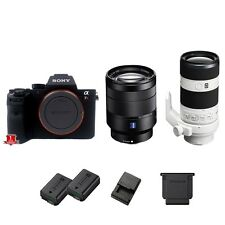 Sony a7R II / A7R 2 Digital SLR Camera Body w/ 24-70mm + 70-200mm Lenses - NEW