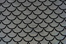 Dance Costume Lycra Fabric Silver on Black Fishscale Mermaid 50cm - 150cm wide