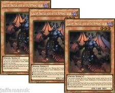 3 x CALCAB MALEBRANCHE OF THE BURNING ABYSS- PGL3-EN048 - 1st Ed Gold Rare