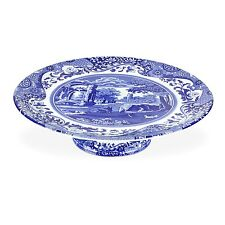 New Spode Spode Blue Italian Footed Cake Plate