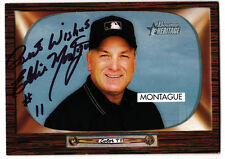 MLB UMPIRE Ed Montague signed 2004 Bowman Heritage card autograph