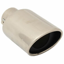 """STAINLESS STEEL 5""""x3"""" OVAL CAR EXHAUST TAIL PIPE TRIM/MUFFLER TIP RACING/SPORTS"""