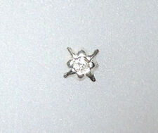 Plain silver spray crystal centred nose stud(priced per pair)