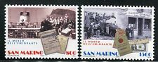 SAN MARINO 1998 EMIGRATION/PEOPLE/SHIP/WORK/CARS/BANKNOTE/DOLLAR/PERMIT  MNH