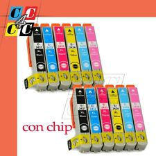 KIT 12 CARTUCCE COMPATIBILI EPSON EXPRESSION PHOTO XP-55 XP-750 XP-760 CON CHIP