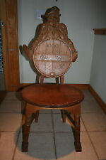 RARE ANTIQUE SHEA BOCQUERAZ SAN FRANCISCO WHISKEY BOTTLE OAK ADVERTISING CHAIR