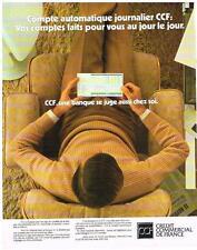 PUBLICITE  1977   CREDIT COMMERCIAL DE FRANCE  banque