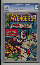 Avengers #18 CGC 9.4 NM Unrestored Marvel 1st Commissar WHITE Pages