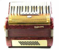 VINTAGE GERMAN PIANO ACCORDION WELTMEISTER 48 BASS,5 REG