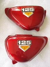 Honda CB125 CB125S RED Side Cover with Emblem // L/R